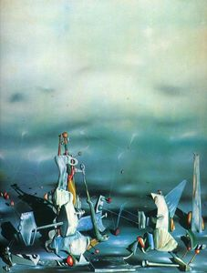 Yves Tanguy - Palace on windows rocks