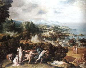 Niccolò Dell' Abbate - Orpheus and Eurydice