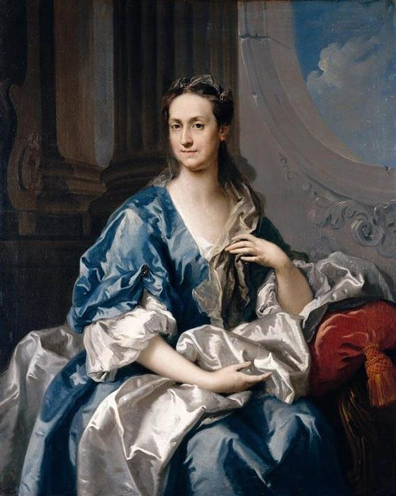 Portrait of a Lady, Oil On Canvas by Jacopo Amigoni (1682-1752, Italy)