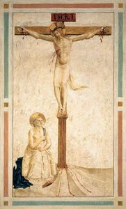 Fra Angelico - Crucifixion with St Dominic Flagellating Himself (Cell 20)