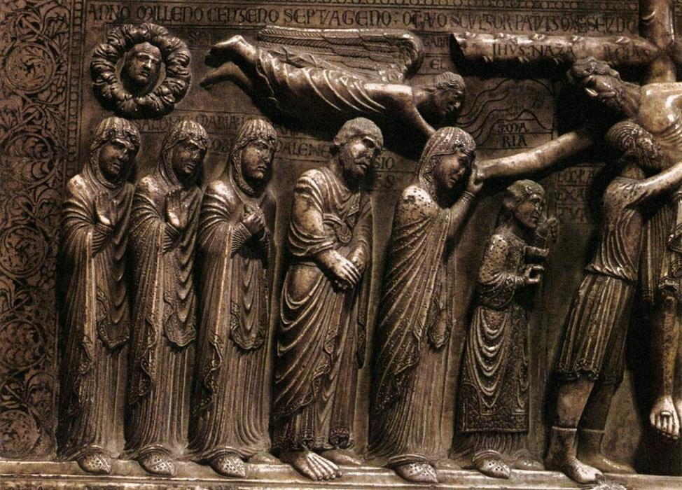 Deposition from the Cross (detail), Marble by Benedetto Antelami (1150-1230, Italy)