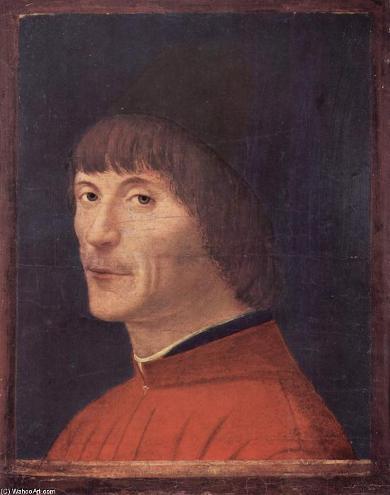 Portrait of a Man, 1474 by Antonello Di Giovanni Di Antonio (Antonello Da Messina) (1430-1479, Italy) | Museum Art Reproductions | ArtsDot.com