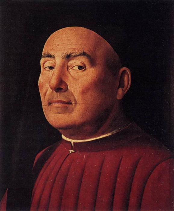 Trivulzio Portrait, Oil On Panel by Antonello Di Giovanni Di Antonio (Antonello Da Messina) (1430-1479, Italy)
