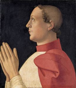 Antoniazzo Romano - Profile Portrait of Cardinal P..
