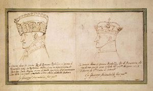 Giuseppe Arcimboldo - Two portraits of Rudolf II with crown