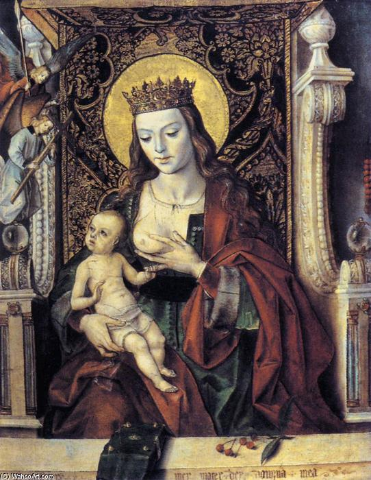 Virgin and Child, Oil by Pedro Berruguete (1450-1504, Spain)