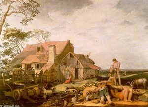 Abraham Bloemaert - Landscape with Peasants Resting