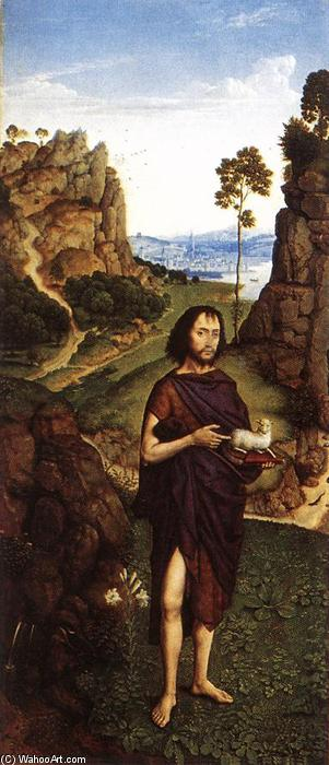 St John the Baptist, Oil by Dieric The Younger Bouts (1448-1491, Belgium)
