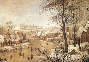 Pieter Bruegel The Younge.. - Winter Landscape with a B..