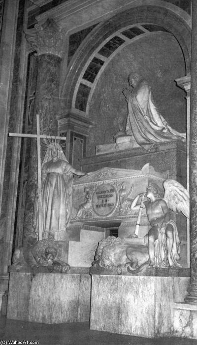 Tomb of Pope Clement XIII, Marble by Antonio Canova (1757-1822, Italy)