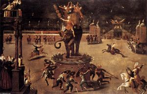Antoine Caron - Merry-go-round with Elephant