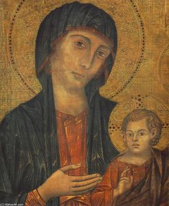 Cimabue - The Madonna in Majesty (d..