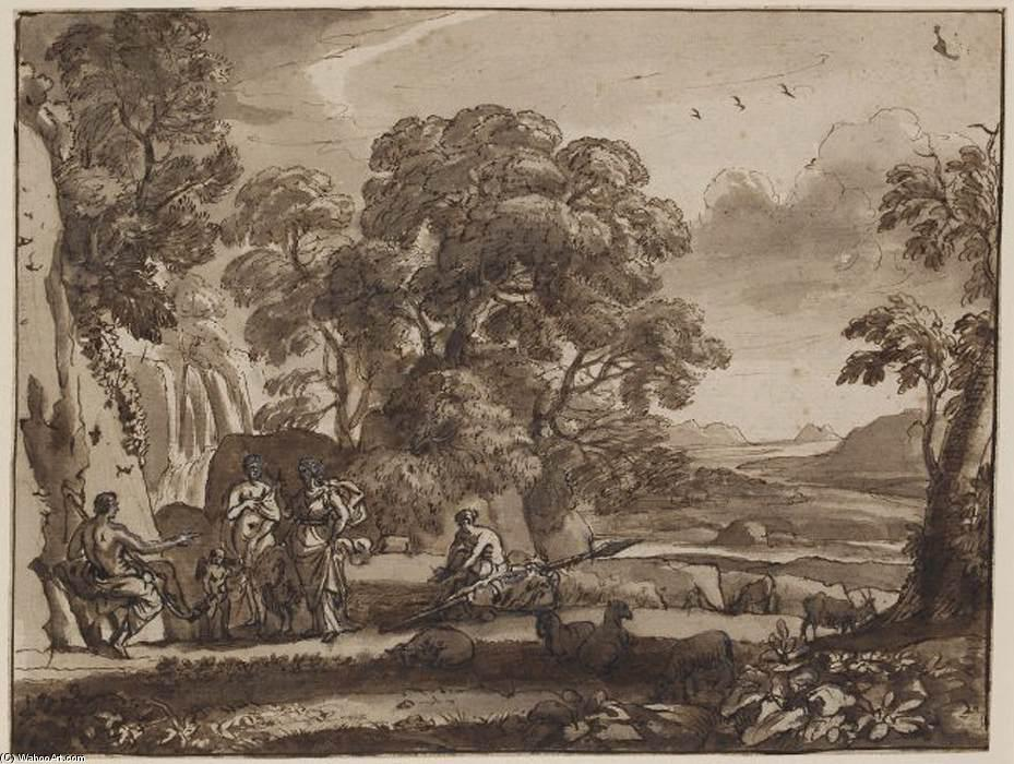 The Judgment of Paris, Pen by Claude Lorrain (Claude Gellée)