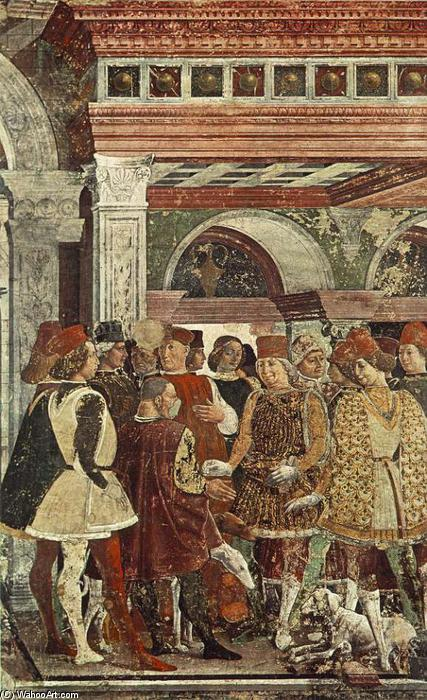 Allegory of April: Triumph of Venus (detail), 1476 by Francesco Del Cossa (1436-1477, Italy) | ArtsDot.com