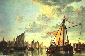 Aelbert Jacobsz Cuyp - The Maas at Dordrecht
