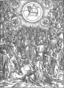 Albrecht Durer - The Revelation of St John: 13. The Adoration of the Lamb and the Hymn of the Chosen