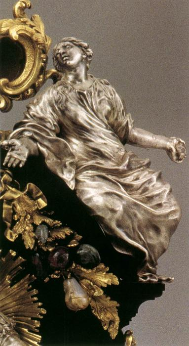 Reliquary of St Sigismund (detail), Wood by Giambattista Foggini (1652-1725, Italy)