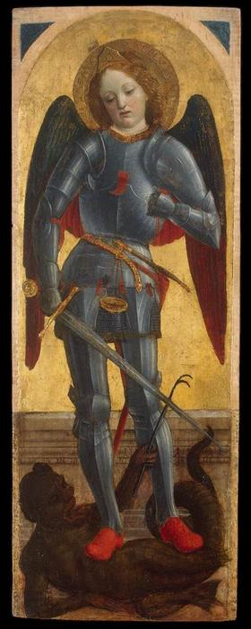 St Michael Archangel, Tempera by Vincenzo Foppa (1427-1515, Italy)