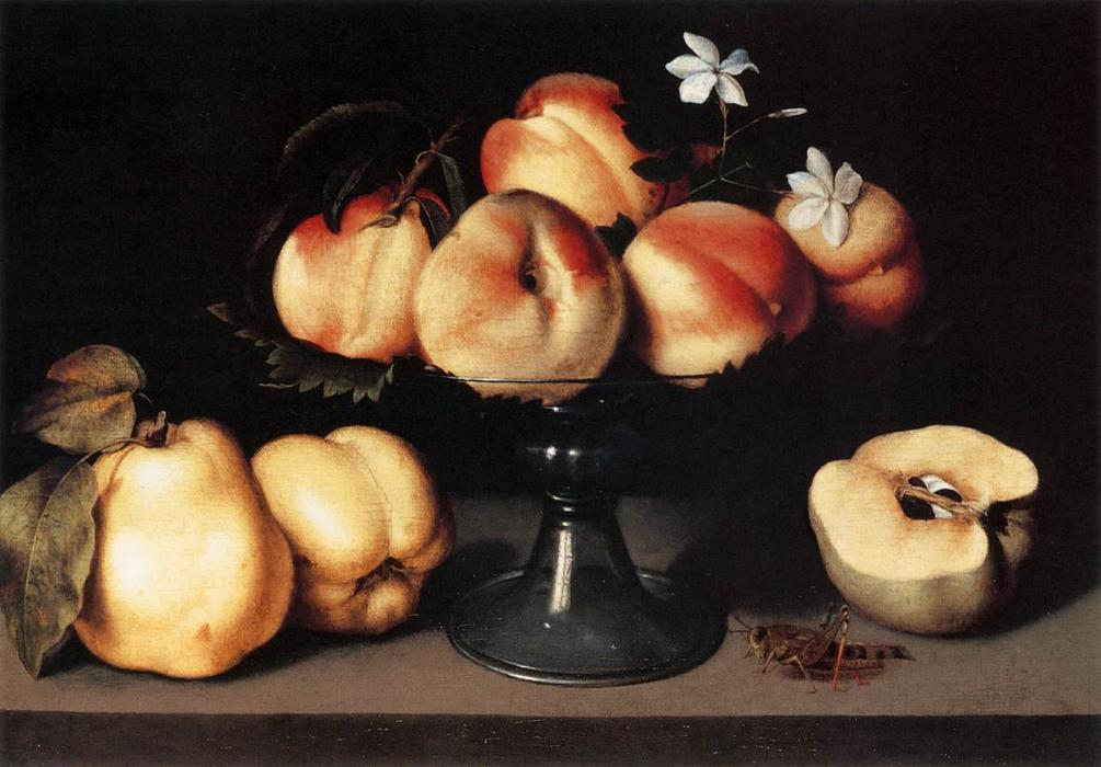 Still-Life, Oil On Panel by Fede Galizia (1578-1630, Italy)