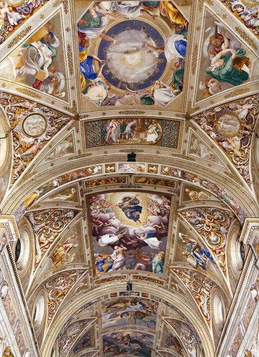 The Ascension of Christ, Frescoes by Bernardino Gatti (1495-1576, Italy)