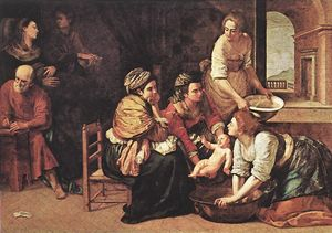 Artemisia Gentileschi - Birth of St John the Bapt..