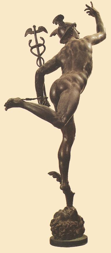 Mercury (rear view), Bronze by Giambologna (1529-1608, France)