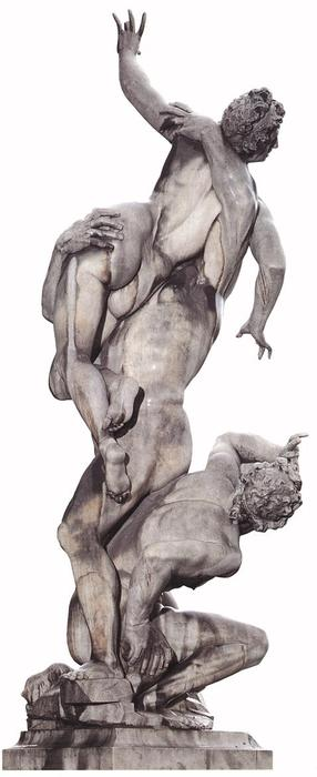 Rape of the Sabines, Marble by Giambologna (1529-1608, France)