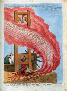 James Gillray - The Blood of the Murdered..