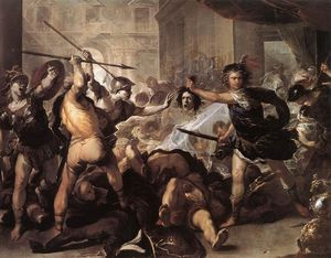 Luca Giordano - Perseus Fighting Phineus and h..