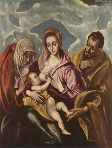 El Greco (Doménikos Theotokopoulos) - Holy Family with St Anne