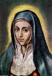 El Greco (Doménikos Theotokopoulos) - The Virgin Mary