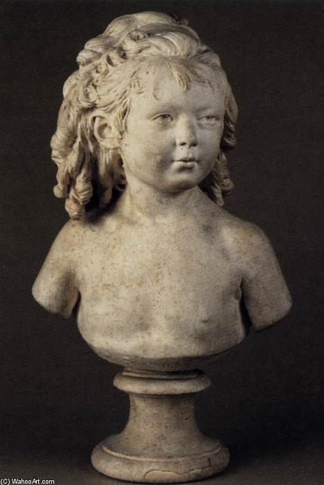 Bust of a Child, 1791 by Jean Antoine Houdon (1741-1828, France) | Painting Copy | ArtsDot.com