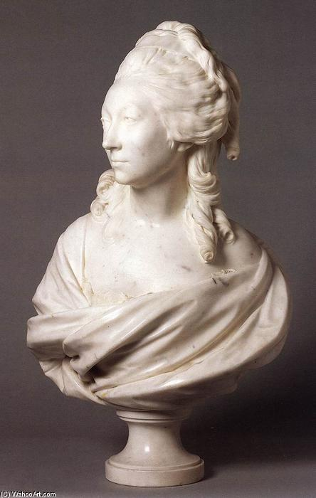 Madame de Sérilly, 1782 by Jean Antoine Houdon (1741-1828, France) | Museum Art Reproductions | ArtsDot.com