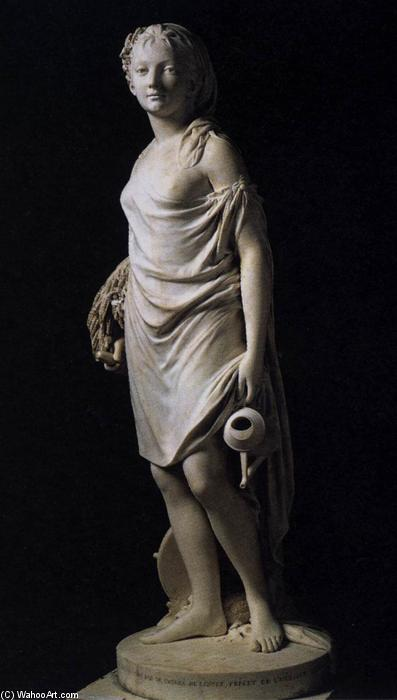 Summer, Marble by Jean Antoine Houdon (1741-1828, France)