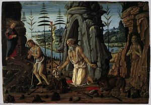 Jacopo Del Sellaio - St Jerome in the Wilderne..