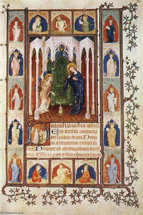 The Annunciation, 1400 by Jacquemart De Hesdin (1355-1414, France) | Museum Quality Copies Jacquemart De Hesdin | ArtsDot.com