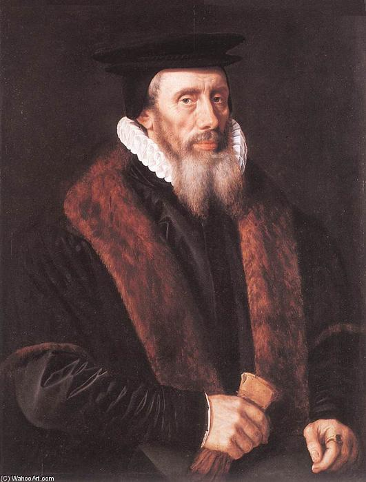 Portrait of a Man, 1580 by Adriaen Thomasz Key (1548-1589, Belgium) | Reproductions Adriaen Thomasz Key | ArtsDot.com