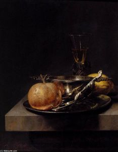 Cornelis Kick - Still-Life with Silver Cu..
