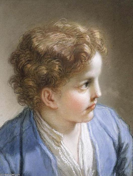 Head of a Young Boy, 1717 by Benedetto Luti (1666-1724, Italy) | Oil Painting | ArtsDot.com