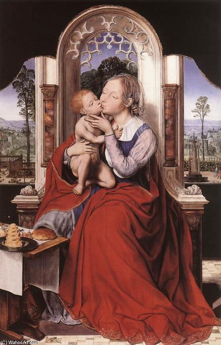 The Virgin Enthroned, 1525 by Quentin Massys (1466-1530, Belgium) | Oil Painting | ArtsDot.com