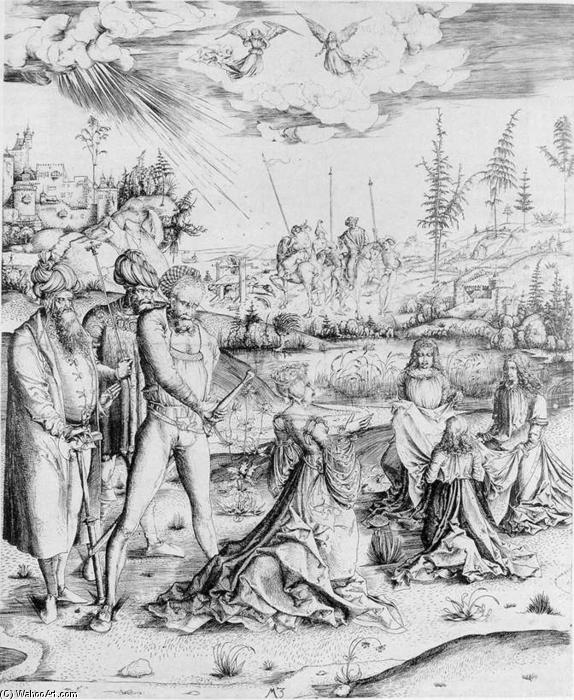 Martyrdom of St Catherine of Alexandria, Engraving by Master M Z