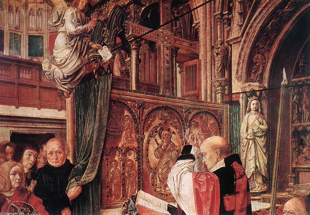 St Gilles' Mass (detail), Oil by Master Of Saint Gilles