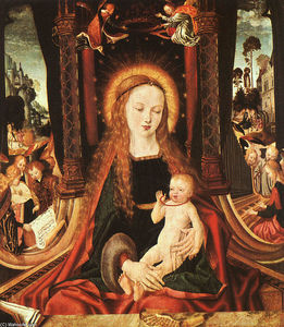 Master Of The Aix En Chap.. - Madonna and Child