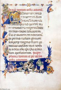 Master Of The Codex Of Sa.. - Missal (Folio 55)