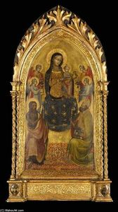 Lippo D-andrea Di Lippo - Madonna and Child Enthroned