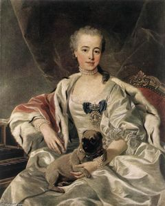 Louis Michel Van Loo - Portrait of Catherina Golitsyn..
