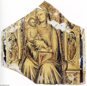 Lorenzo Monaco - Virgin and Child Enthroned with Sts John the Baptist and John the Evangelist