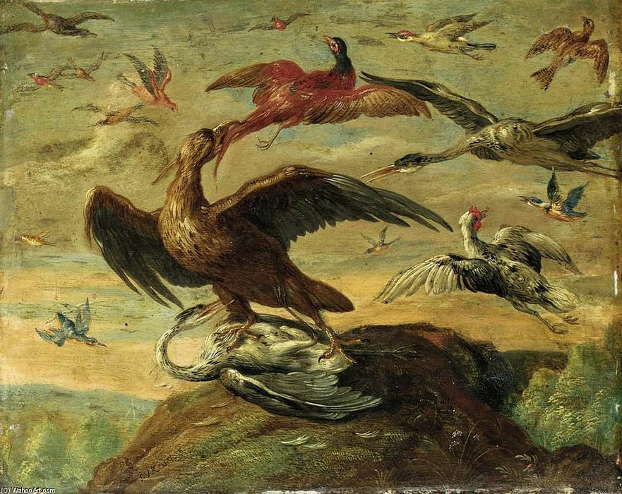 Birds, Oil On Copper by Jan Van Kessel (1641-1680, Belgium)