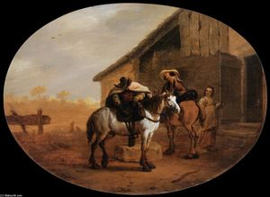 Pieter Boddingh Van Laer - Departure from the Inn