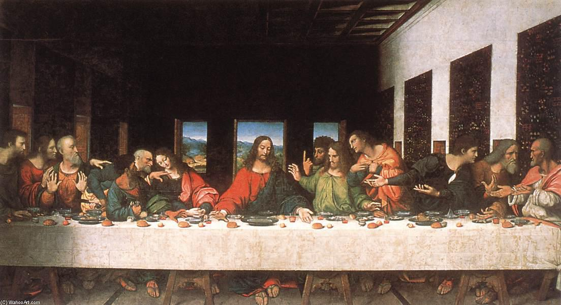 Last Supper (copy) by Leonardo Da Vinci (1452-1519, Italy) | Painting Copy | ArtsDot.com